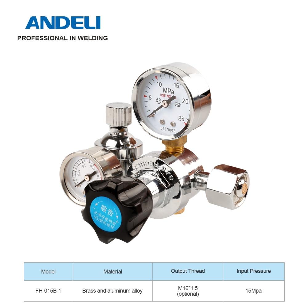 ANDELI FH-015B-1 لحام الغاز متر الأرجون ضغط تدفق منظم ل ماكينة لحام بغاز التنجستين الخامل الأرجون مخفض الضغط