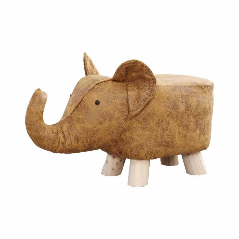 Taburete de elefante de dibujos animados, taburete de pie, taburete de madera sólida, taburete creativo para niños, sofá de animal