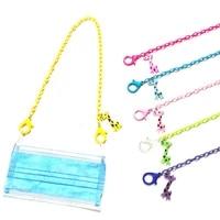 58cm cute cartoon giraffe children mask chain holder anti lost non slip face cover rope acrylic colorful mask chain jewelry