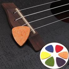 ¡Novedad! collar colorido de púa de guitarra ukelele de lana picos de fieltro ukelele suaves picos de fieltro para accesorios de guitarra ukelele Banjor