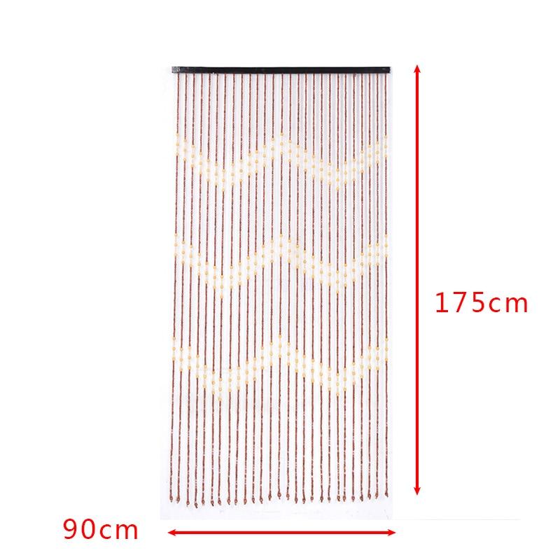 90x175cm 27 Line Wooden Beads Curtain Fly Screen Handmade String Beans Blinds For Door Entrance Living Room Window Gate Divider