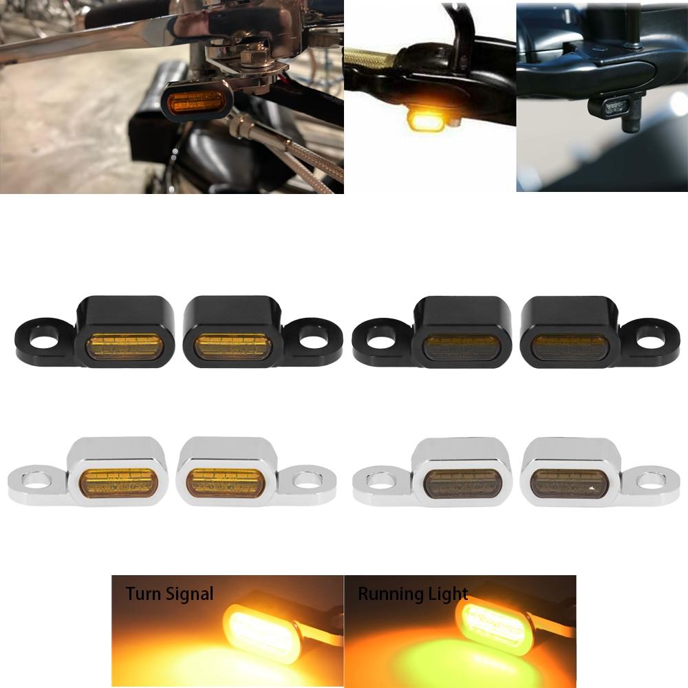 دراجة نارية 2 قطعة البسيطة LED مصباح بدوره إشارة العنبر ضوء 12V E علامة ل هارلي سوفتيل اندلاع 16-17 بجولة في طريق الملك الإنزلاق 14-21