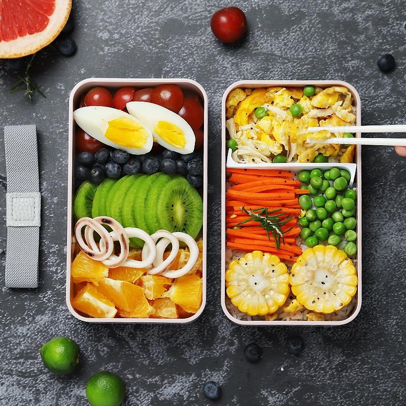 Caja De almuerzo De Linch Bento Recipientes párr Alimentos Pojemnik Contenedores De comida De preparación Contenedores De Lancheira Infantil Pojemniki comida