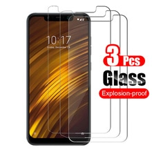 3Pcs For Xiaomi Pocophone F1 Tempered Glass Screen Protector Protective Film HD On The For Xiaomi Po