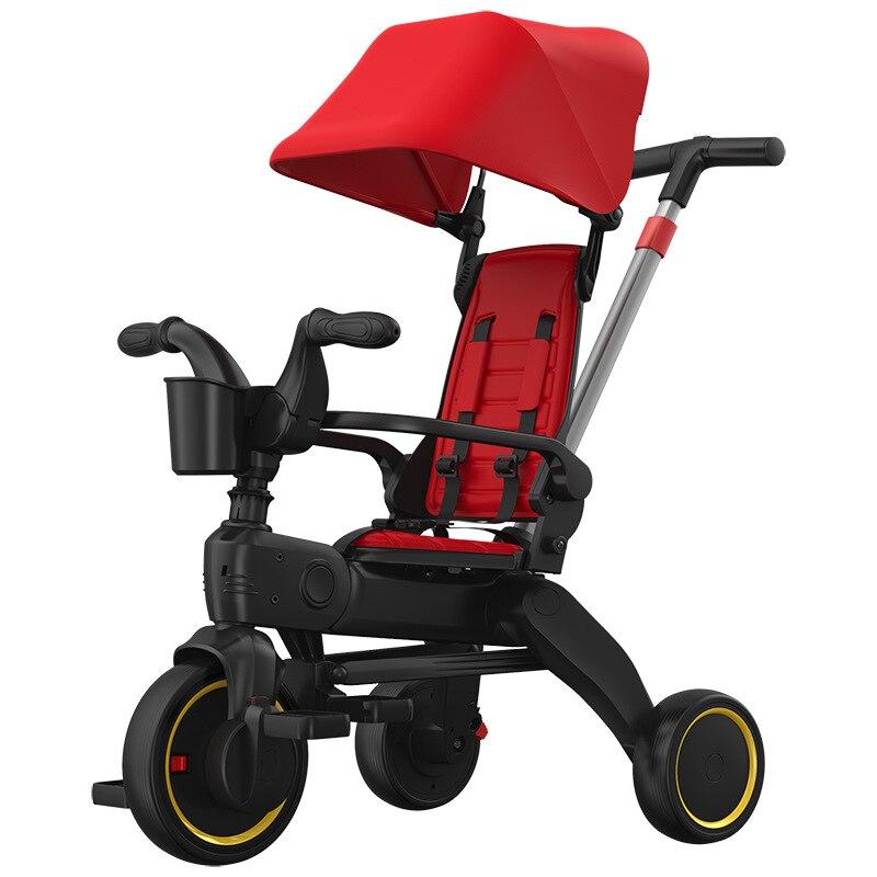 دراجة ثلاثية العجلات طفل الدراجة ثلاثة عجلة الدراجات خفيفة الوزن عربة 1-3-6 سنوات طفل عمره عربة جديد الطفل و الأطفال أربعة في واحد