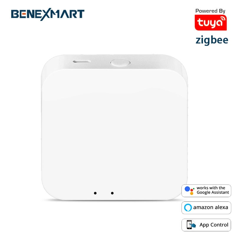 Tuya-Zigbee Hub Smart Gateway لأتمتة المنزل ، يعمل مع تطبيق Alexa و Google Home Smart Life