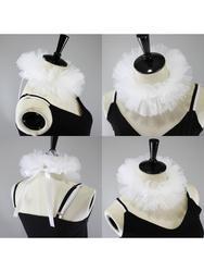 Feminino tule fofo babados colar falso em camadas malha cosplay traje palhaço gargantilha x7ya