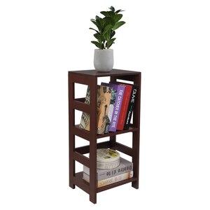 "Wooden Bookshelf Book Display Etagere Rack 3 Tier Bookcase Storage Shelf Organizer 13.3""W x 11.2""D x 29.2""H Brown[US-Stock]"