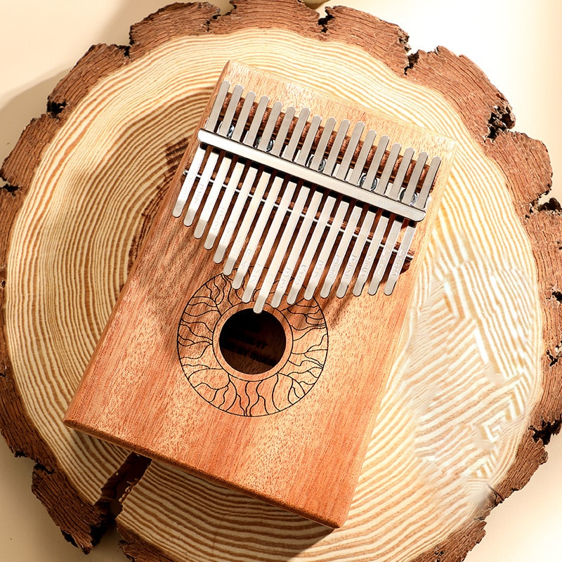 Kalimba 17 Key Thumb Piano Solid Wood Portable Keyboard Instrument High Quality Mahogany Wooden African Kalimba Finger Piano enlarge