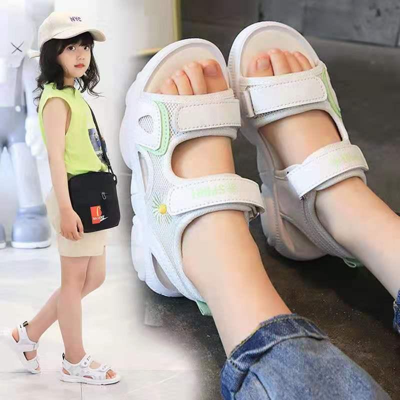 2021 Non-Slip Princess Shoes Lightweight Children Sandals Girls Platform Sandals Soft Leather Rubber Sandals Kawaii Girl Shoes enlarge
