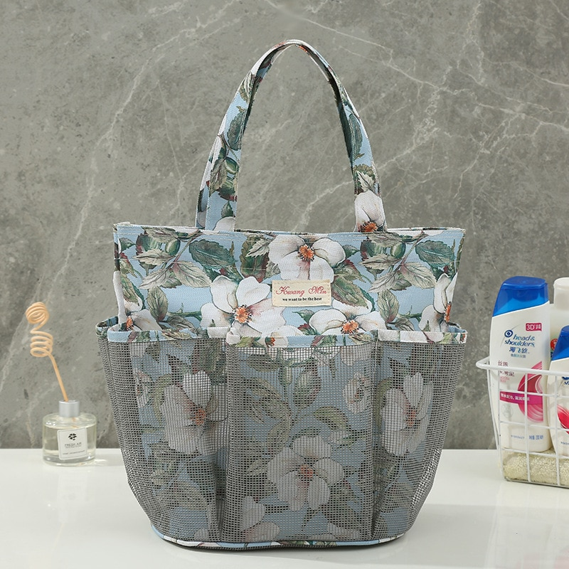 Small Fresh Mesh Portable Toilet Bag Portable Storage Bath Pocket Bag Multifunctional Beach Bag