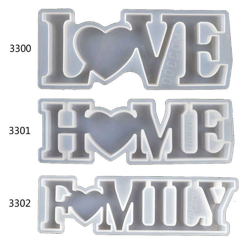 Love Home Family Silicone Mold  Love Sign Word Mold Epoxy Resin Molds Art Crafts R2LE фото
