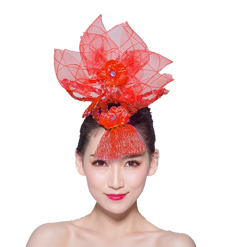 Latin Dance Performance Headpiece Singing Competition Head Flower Square Catwalk Headdress
