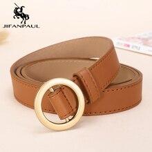 JIFANPAUL Round Metal Circle Belt women belt Fashion retro jeans dress accessories luxury brand youth cute belts free shipping