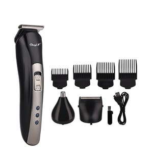 3 In 1 Electric Haircut Grooming Kit Rechargeable Hair Clipper Nose Beard Hair Trimmer Men Cordless Shaver Razor Cutting Mach