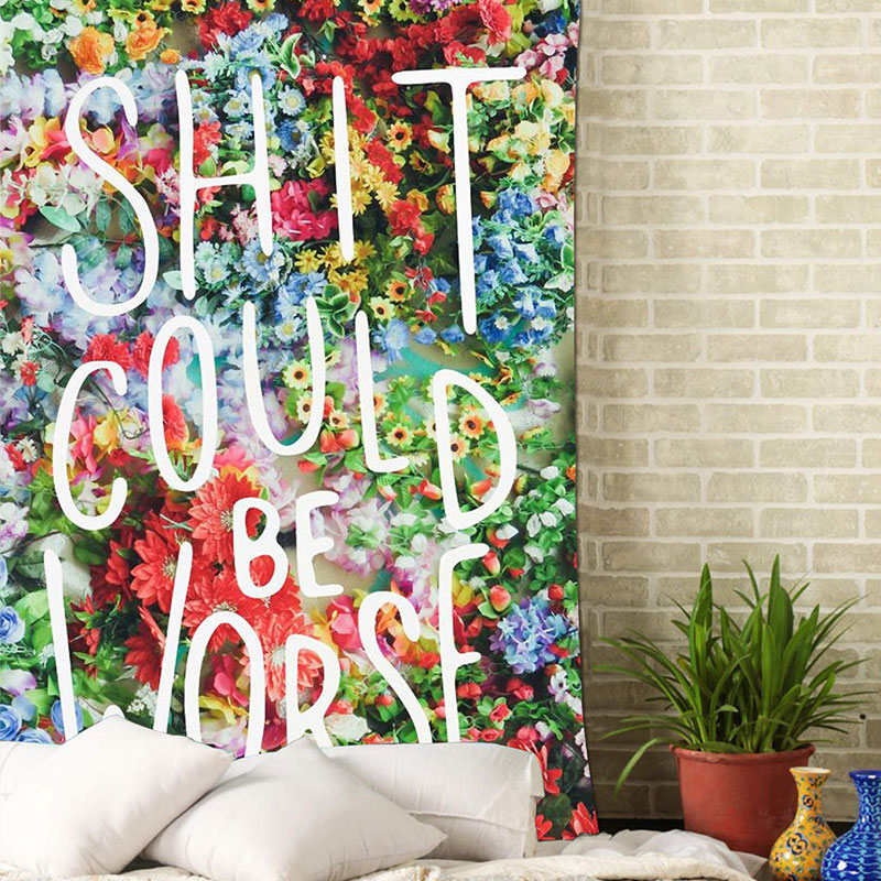 Colorful Large Hanging Funny Text Party Decoration Tapestry Wall Hanging Blanket Yoga Beach Mat Home Decor House Decoration colorful large hanging funny text party decoration tapestry wall hanging blanket yoga beach mat home decor house decoration