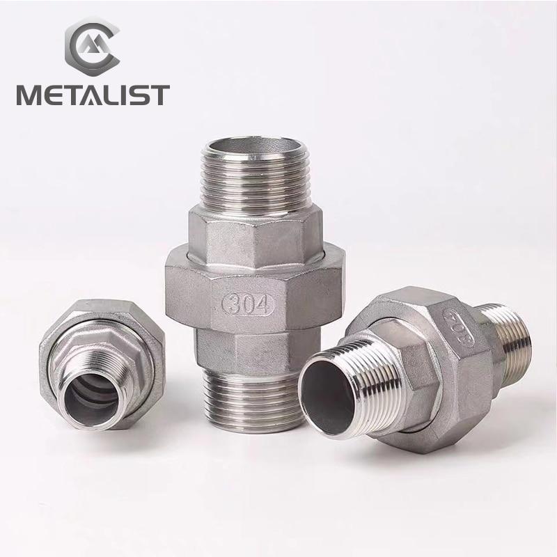 Metal DN80 macho y DN80 macho rosca BSP SS304 Unión de acoplamiento en vivo conector de tubería para conexión de tubo