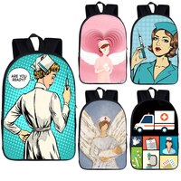 Cartoon Angel Nurse Doctor Backpack for Teenager Girls Daypack Children School Bags Kids School Backpacks Book Bag Gift