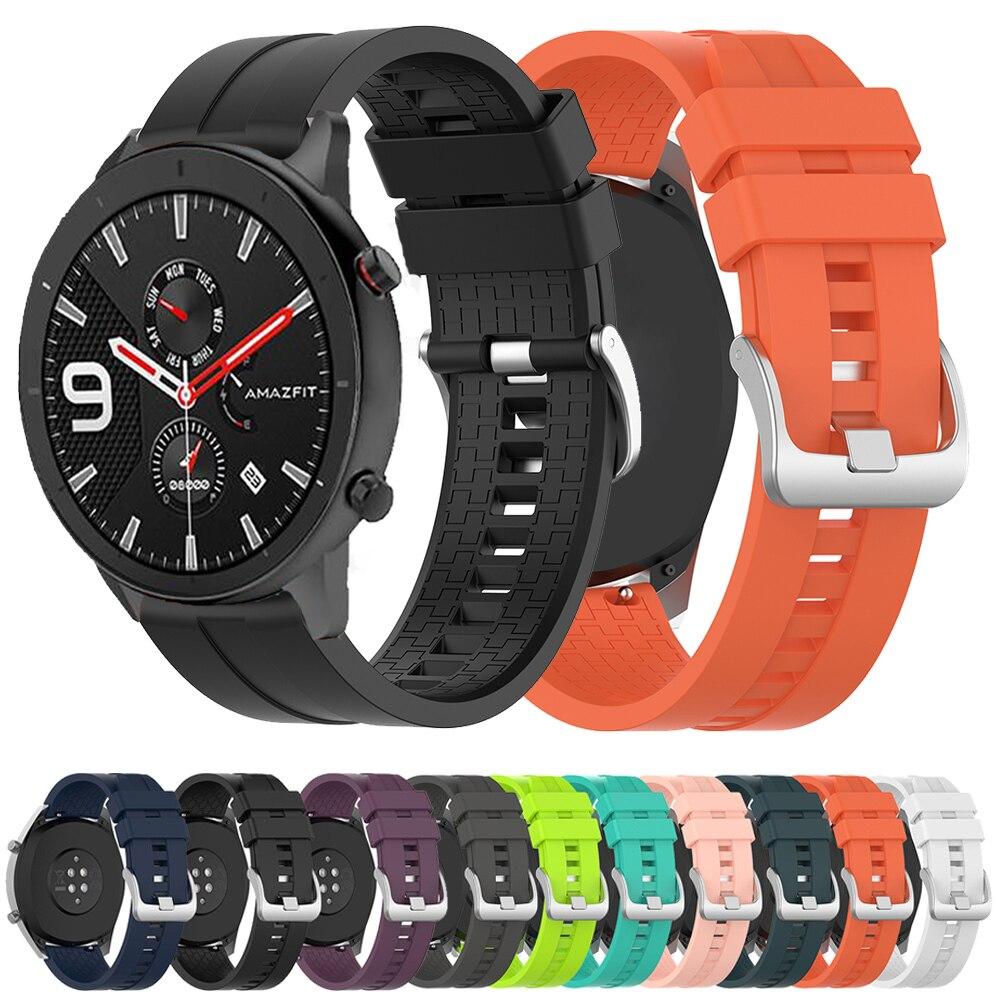 Para Huami Amazfit GTR 47mm correa de silicona deportiva 22mm correa de reloj pulsera de goma correa para Xiaomi Huami amazfit 2 2S