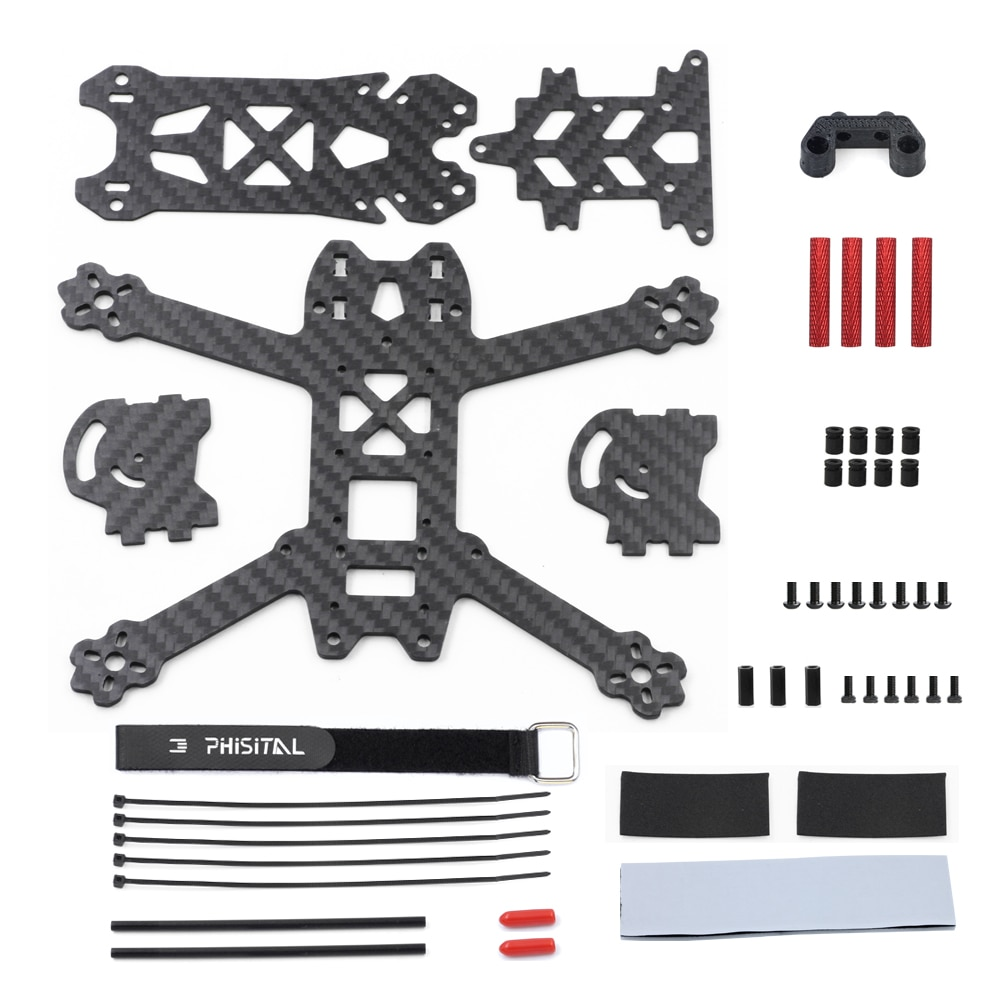 PHISITAL KUN HD3 3 inch prop 150mm Digital FPV System HD Freestyle Quadcopter Frame Accessories Part