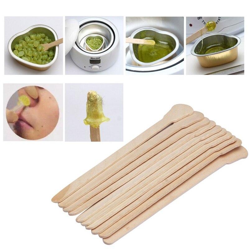 50 Uds gran oferta palillo de cera de madera desechable aplicador de cera para depilación palillo de depilación espátulas