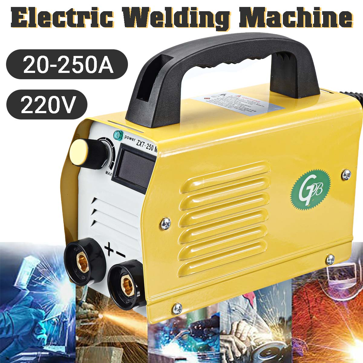 ZX7-250 20-250A Electric Welding Machine LCD Display ARC/MMA Inverter IGBT Welders Welding Equipment