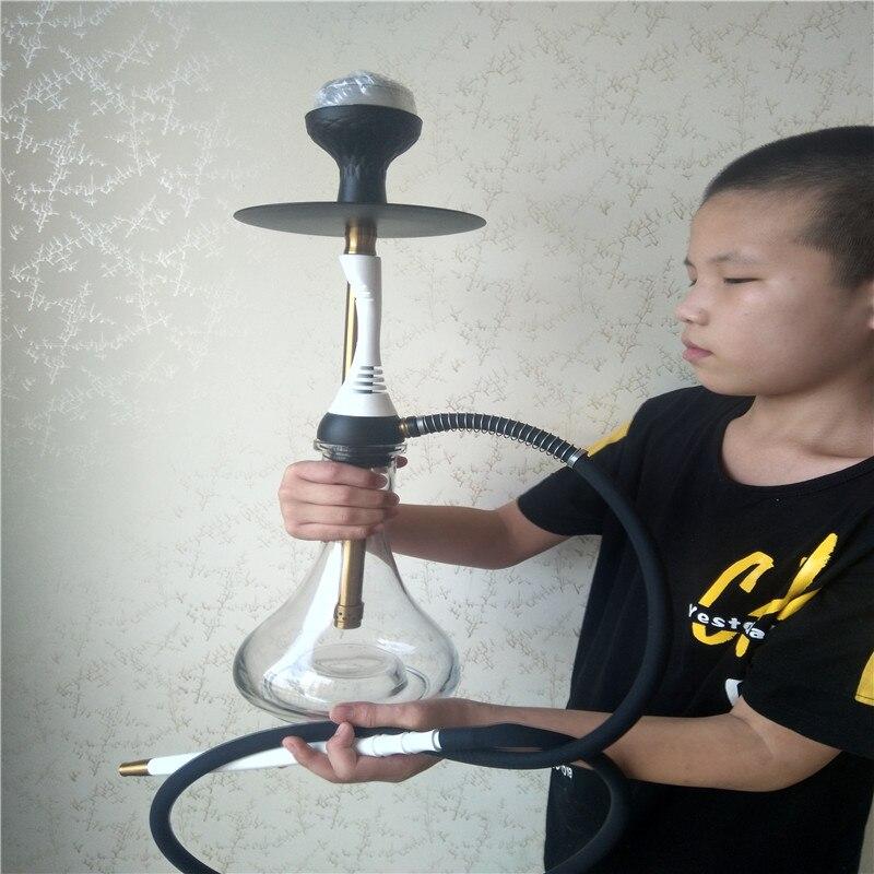 De Hookah Shisha Pipa para fumar conjunto Nargile Chicha con tubo para pipa de agua de pinzas Shisha, accesorios de