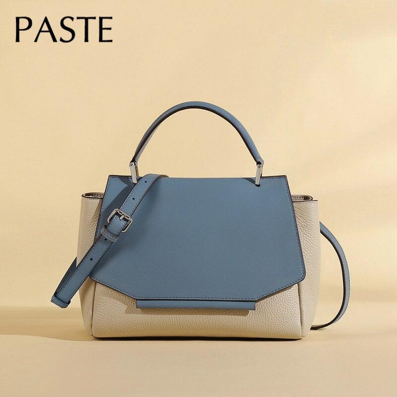 Роскошная брендовая дизайнерская трапециевидная сумка из 100% натуральной воловьей кожи , женская сумка , большая сумка через плечо, сумка женская 2020