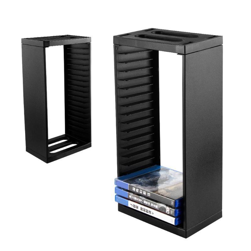 Sostenedor de discos Vertical de torre de almacenamiento de disco multifuncional soporte de 18 discos de juego organizador para PS4 Pro delgado para Xbox One