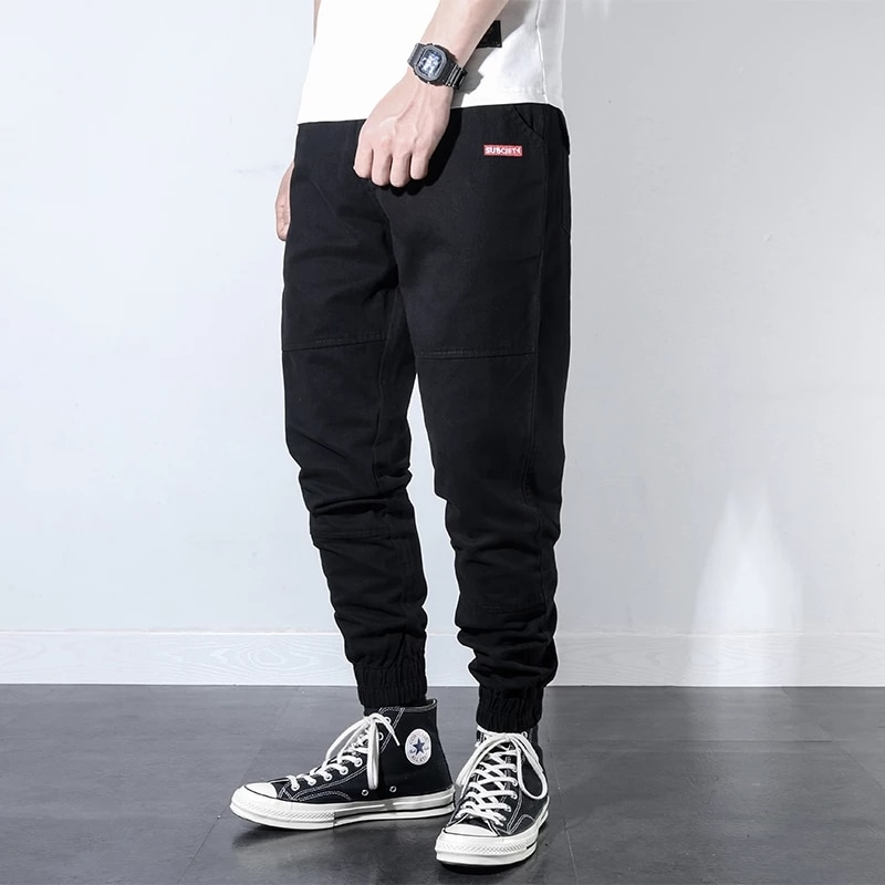Джинсы-карго мужские с множеством карманов, Модные Винтажные дизайнерские штаны в японском стиле, повседневные брюки-карго, уличная одежда,...