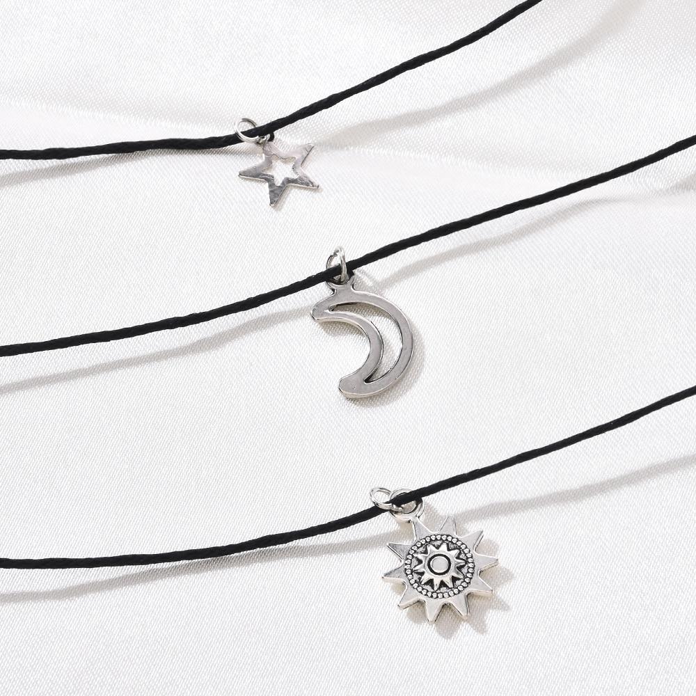 Set de 3 unidades de pulseras tobilleras con sol, luna, estrella, joyas para el pie, tobilleras para mujer, accesorios de moda para la playa, regalos bohemios