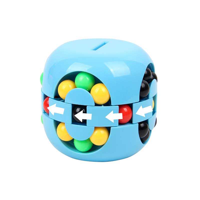 Colorful Magic Cube Little Magic Bean Rotating Cube Kids Stress Relief Toy For Adults kids Plastic Mini Cube Toy With Piggy Bank enlarge