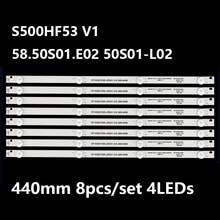 LED backlight strip for LED-50B760 S500HF53 V1 58.50S01.E02 50S01-L02