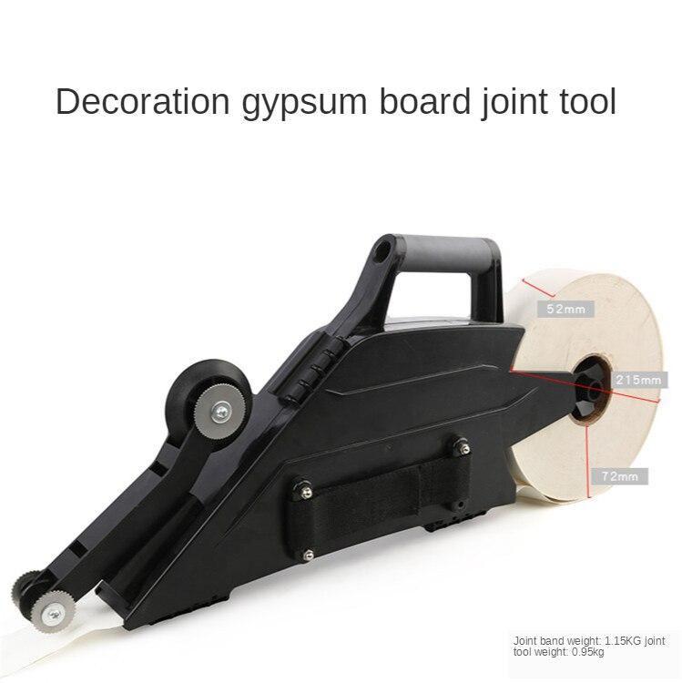 Многофункциональное использование гипса с изображением деревянного пола и строительно-отделочных работ, шприц для заделки швов с соединен...