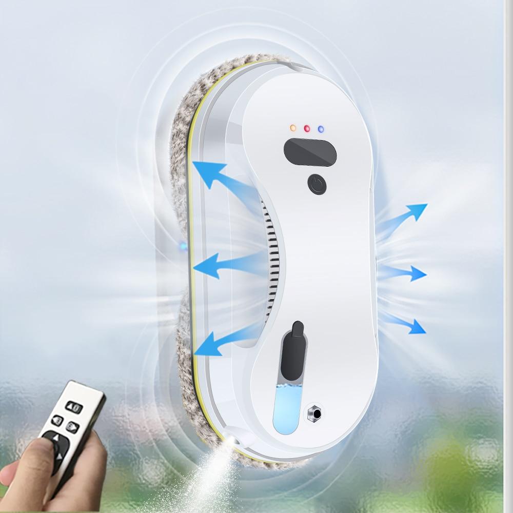 نافذة المنظفات روبوت Smarts رذاذ مع التلقائي رذاذ الماء وظيفة مكافحة سقوط المغناطيسي بلاط زجاجي جدار تنظيف آلات WCR-02