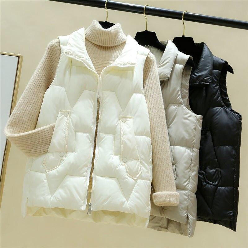 Дешевая оптовая продажа 2021 Весна Осень Зима Новая Женская мода Повседневная Милая теплая Женская жилетка верхняя одежда BVy191