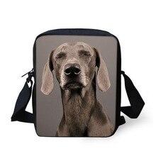 2020 mignon Weimaraner chien 3D imprimer garçons filles Mini sacs à bandoulière mode dames sacs de messager marque concepteur sac à bandoulière femmes
