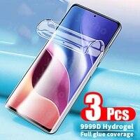 hydrogel film on redmi k40 pro plus note 10 9 8 pro 8t 9t 9c for xiaomi 11x 11 ultra pro lite 5g 11i poco x3 pro nfc m3 f3 case