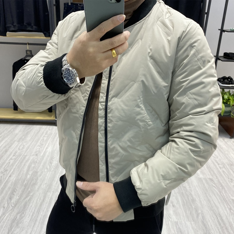 New Men's Duck Down Short Coat & Jacket Waterproof Windbreaker Male Outer wear Winter Clothing Khaki Green Plus Size 5XL XXXXXL