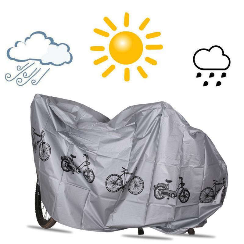 Capa de bicicleta à prova dwaterproof água ao ar livre uv protetor mtb caso da bicicleta capa chuva dustproof bicicleta carro elétrico roupas/capa chuva