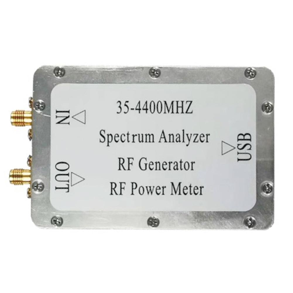 35-4400Mhz Draagbare Usb-poort Pc Tracking Bron Hoge Snelheid Rf Power Meter Aluminium Analyze Onderhoud Signaal generator