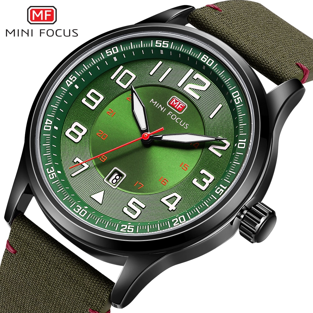Relojes para hombre MINI FOCUS, reloj de pulsera de cuarzo de marca de lujo para hombre, correa de nailon a prueba de agua, reloj deportivo de moda, reloj Masculino