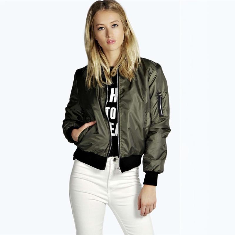 Fashion Women Windbreaker Jacket Spring Autumn Coats Long Sleeve Basic Jackets Bomber Thin Women's J