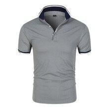 Polo de algodón con estampado de letras para hombre, ropa informal de retales, Tops, 7 colores, envío directo