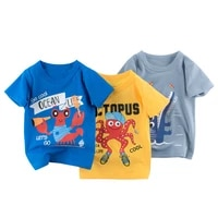 kids summer fashion clothes toddler boys cartoon cotton t shirts girl short sleeve t shirt children boutique outfits infant tops