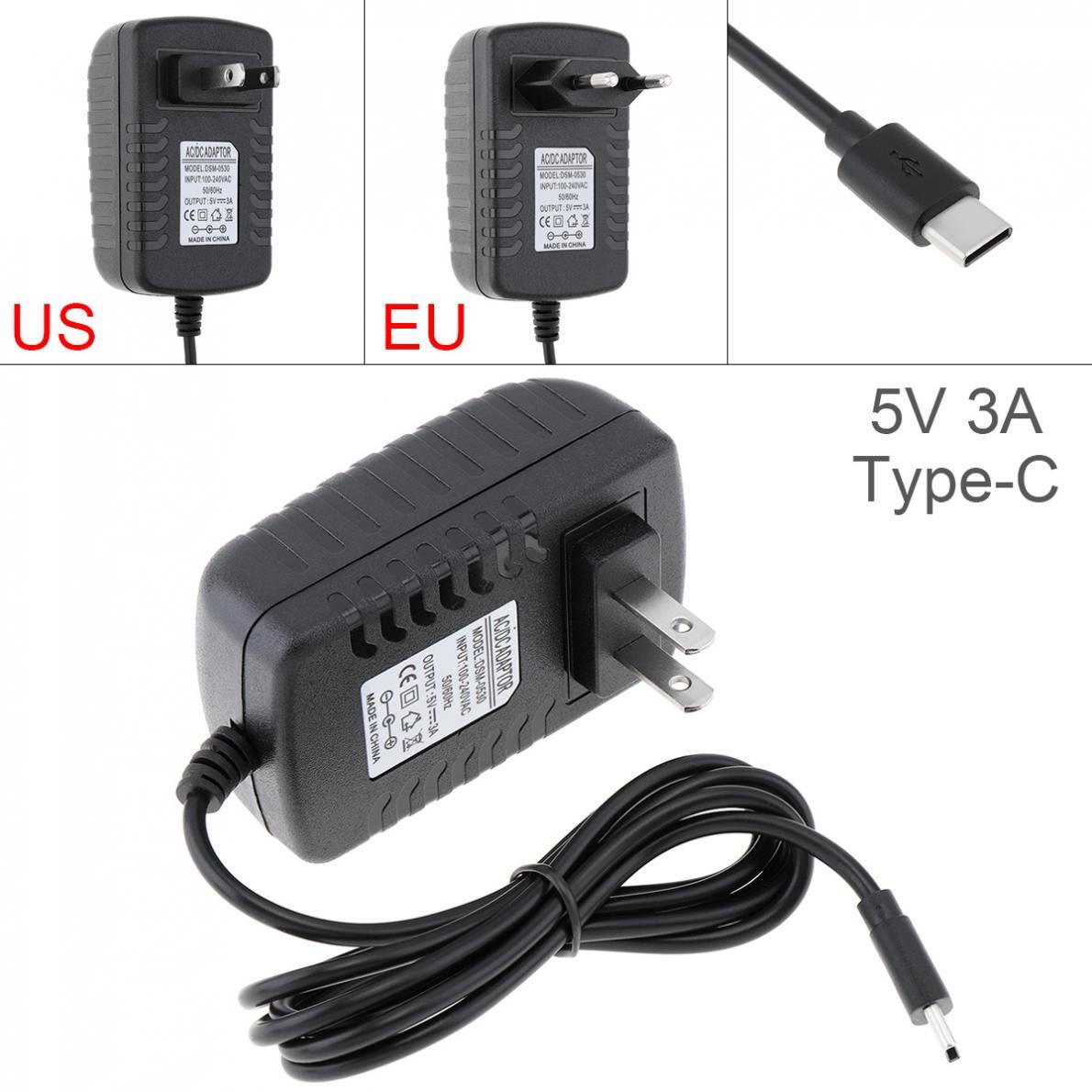 5 v 3a adaptador de energia carregador conversor carregador do telefone móvel apto para raspberry pi4 typec usb carregamento de energia