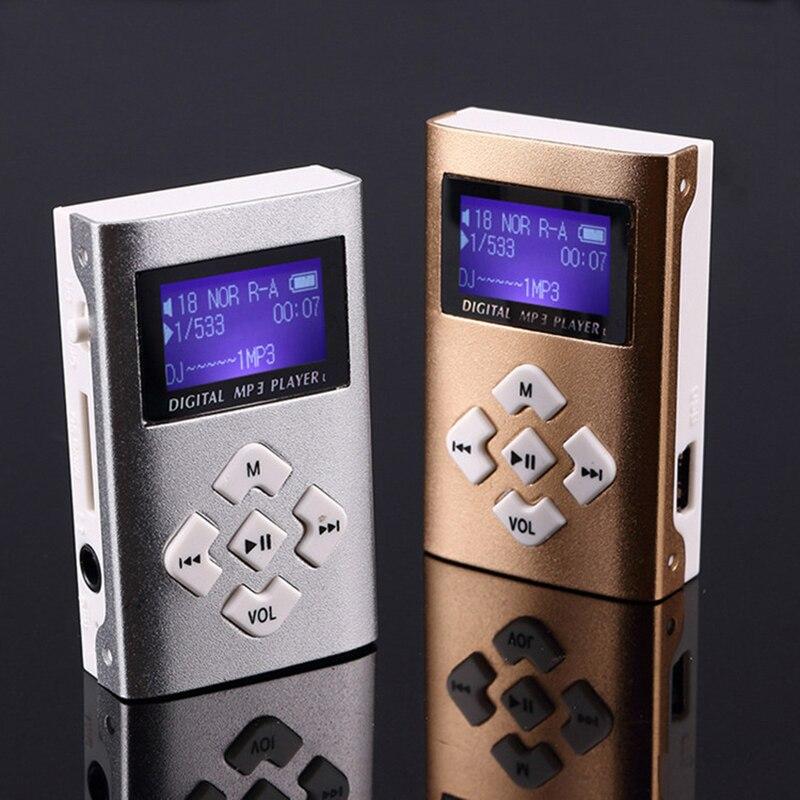MP3 Music Player Mini Usb Clip Portable Lcd-scherm Ondersteuning 32Gb Micro Sd Tf Card Slot Digitale