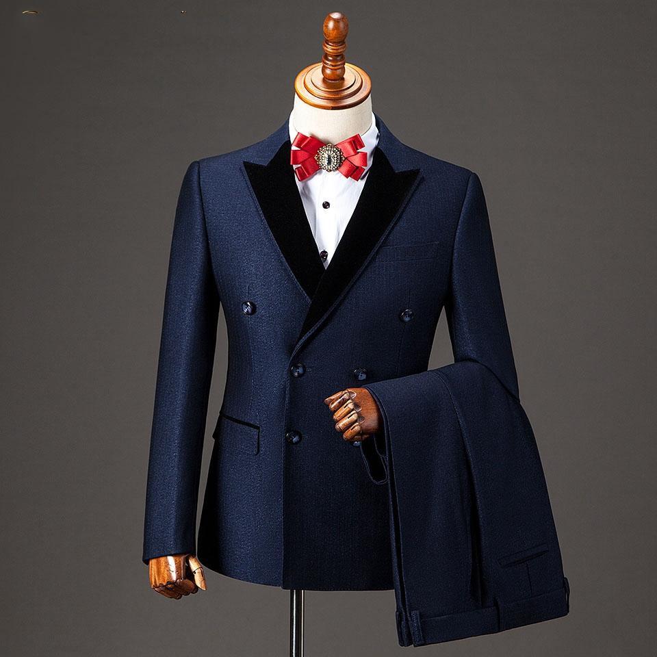 2020 New Fashion Mans Suits For Wedding Party Dress Slim Fit Costume Homme Business Suit Dinner Suit Two Piece Suit(Jacket+Pant)