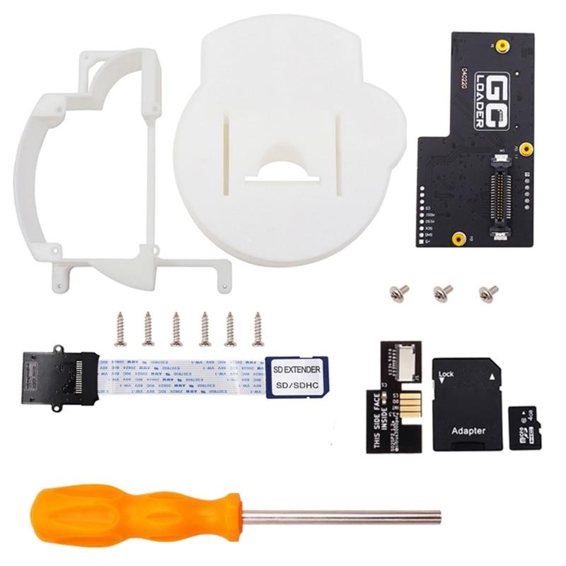 67JA Game-cube Gc Loader 3d Tray Printing Installation Kit Sd Card Installation Kit Expansion Adapter