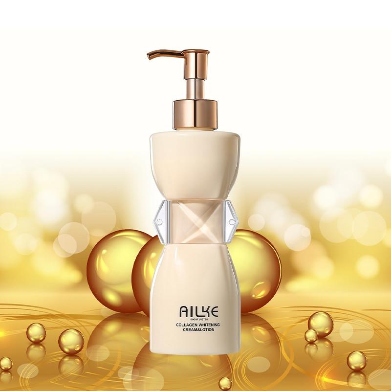 AILKE Collagen Rose Moisturizing Whitening Body Lotion cream anti-pigmentation Wrinkles emulsion Women Beauty products care